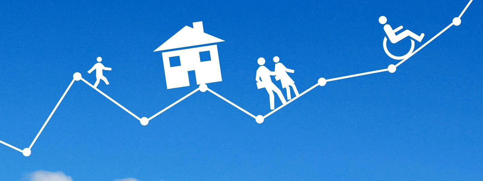 家計の折れ線グラフ